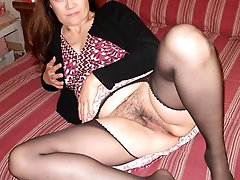 Pretty-looking mature MILFs are spreading legs