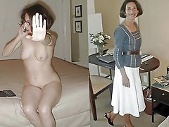 Old housewives posing totally undressed on camera