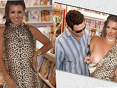 Filthy older businesswoman get naked