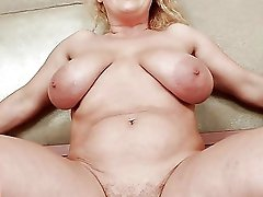 Delicious MILF like a huge cock so much