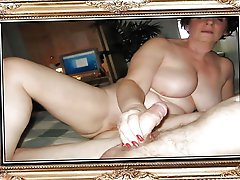 Incredible aged mademoiselle posing fully undressed on cam