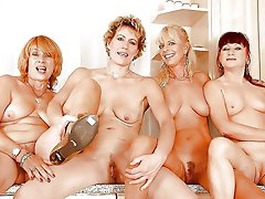 Sensational mature tarts showing their skills