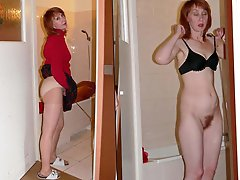 Experienced lady seducing her husband