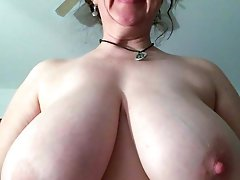 Incredible mom showing off her melons
