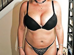 Gallant mature granny posing totally naked